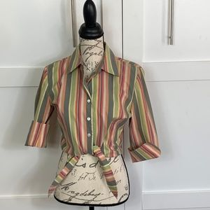 VINTAGE 1970S  INSPIRED  IDEOLOGY BLOUSE